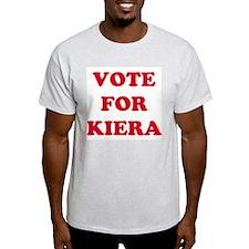 VOTE FOR KIERA  Ash Grey T-Shirt