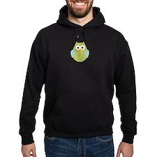Green Blue Polka Dot Owl Hoodie