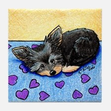 Cutie Pie Yorkie Tile Coaster