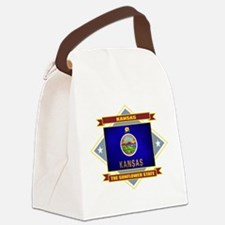 Kansas diamond.png Canvas Lunch Bag