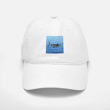 Blue Marlin on Water Baseball Baseball Cap