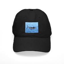 Blue Marlin on Water Baseball Hat