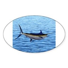 Blue Marlin on Water Decal