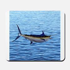 Blue Marlin on Water Mousepad