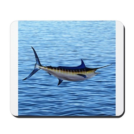 Blue Marlin On Water Mousepad