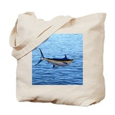 Blue Marlin on Water Tote Bag