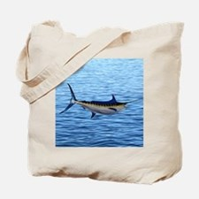 Blue Marlin on Water Tote Bag