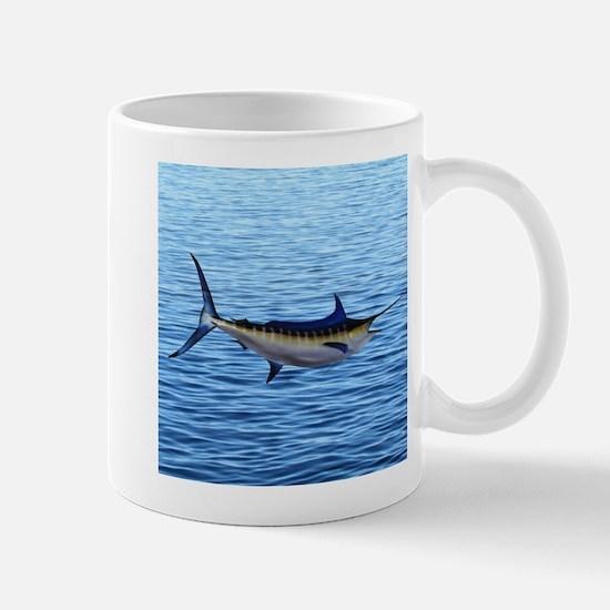 Blue Marlin on Water Mug