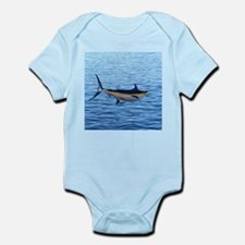 Blue Marlin on Water Infant Bodysuit