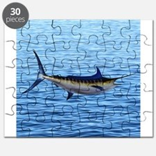Blue Marlin on Water Puzzle