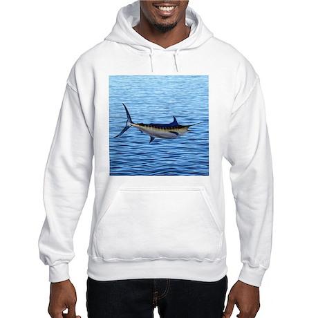 Blue Marlin on Water Hooded Sweatshirt