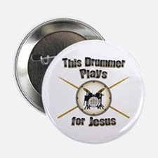 "Drum for Jesus 2.25"" Button"