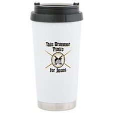 Drum for Jesus Travel Mug