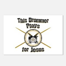Drum for Jesus Postcards (Package of 8)