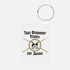 Drum for Jesus Keychains