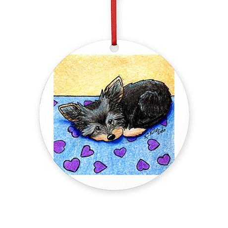 Cutie Pie Yorkie Ornament (Round)