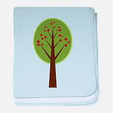 Mod Apple Tree baby blanket