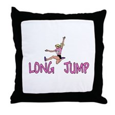 Unique Track field girl Throw Pillow
