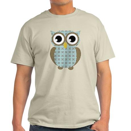 Blue Mod Print Owl Light T-Shirt