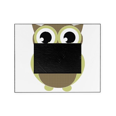 Green Brown Mod Owl Picture Frame
