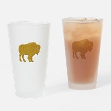 American Bison Drinking Glass
