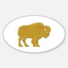 American Bison Sticker (Oval)