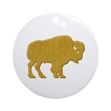 American Bison Ornament (Round)