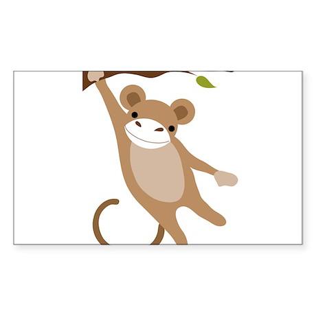 Monkey Sticker (Rectangle)