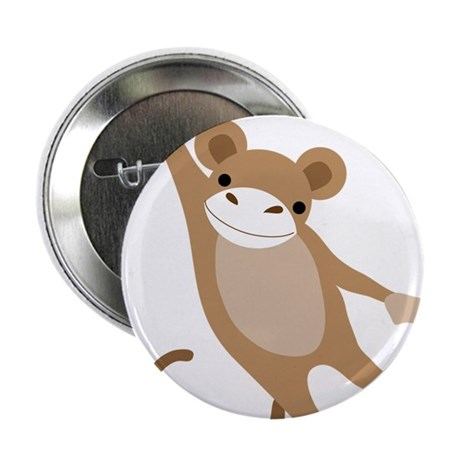 "Monkey 2.25"" Button (100 pack)"