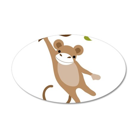 Monkey 20x12 Oval Wall Decal