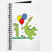 Dino First Birthday Journal