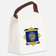 Nebraska diamond.png Canvas Lunch Bag