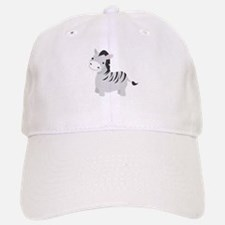 Gray Zebra Baseball Baseball Cap