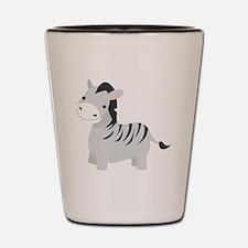 Gray Zebra Shot Glass