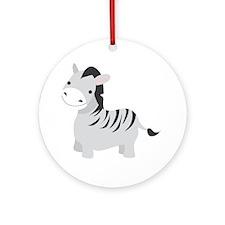 Gray Zebra Ornament (Round)