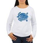 Long sleeve blue Tongan turtle