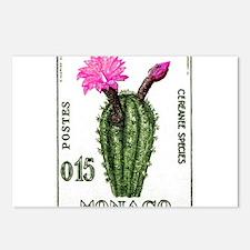 1960 Monaco Cactus Cereanee Pink Stamp Postcards (