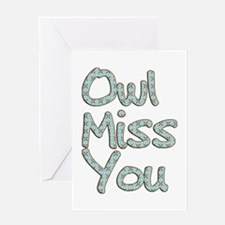 Owl Miss You Greeting Card