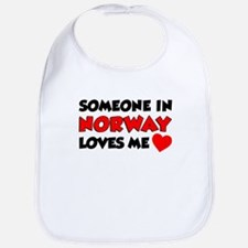Someone Norway Loves Me Bib