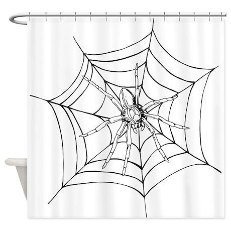 Halloween Spider Web Shower Curtain