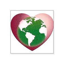 """Love the Earth Square Sticker 3"""" x 3"""""""