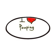 i love pooping funny Patches