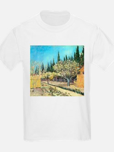 Van Gogh Flowering Fruit Garden T-Shirt