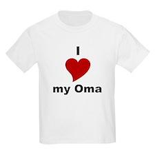 I Love My Oma Kids T-Shirt