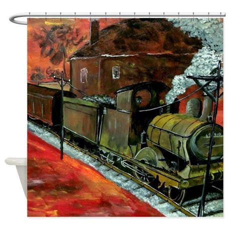 Old Train Shower Curtain
