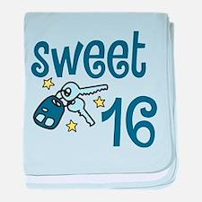 Sweet 16 baby blanket