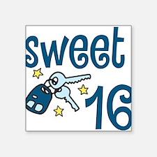 "Sweet 16 Square Sticker 3"" x 3"""