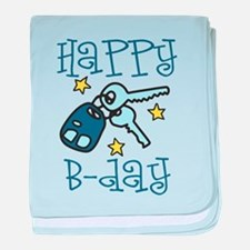 Happy B-day baby blanket