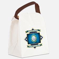 South Dakota diamond.png Canvas Lunch Bag