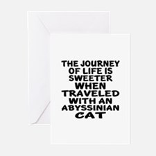 Traveled With abyssinian Greeting Cards (Pk of 10)